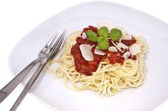 Fresh homemade spaghetti Royalty Free Stock Photography