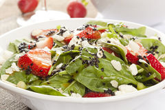 Fresh Homemade Strawberry Spinach Salad Stock Photography