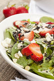 Fresh Homemade Strawberry Spinach Salad Stock Image