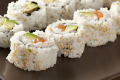 Fresh Homemade Sushi Roll Royalty Free Stock Images