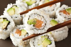 Fresh Homemade Sushi Roll Royalty Free Stock Photo