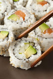 Fresh Homemade Sushi Roll Royalty Free Stock Image
