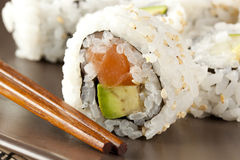 Fresh Homemade Sushi Roll Stock Photography