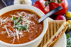 Fresh Homemade Tomato Soup Royalty Free Stock Image