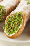 Fresh Homemade Traditional Cannoli Royalty Free Stock Photo