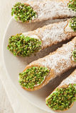 Fresh Homemade Traditional Cannoli Royalty Free Stock Images