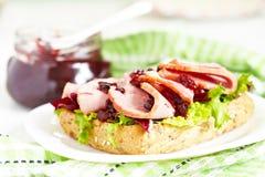 Fresh Homemade Turkey Sandwich Royalty Free Stock Images