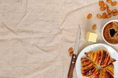 Fresh homemade unfilled croissants for breakfast Stock Photo