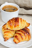 Fresh homemade unfilled croissants for breakfast Royalty Free Stock Photography