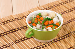 Fresh homemade vegetable soup. Stock Image