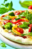 Fresh homemade veggie pizza. Stock Photos