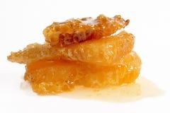 Fresh honey. Honeycombs of fresh honey  isolated on white background Royalty Free Stock Photos