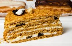 Fresh Honey cake Royalty Free Stock Photography