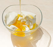 Fresh honey and Greek yoghurt Royalty Free Stock Image