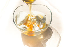 Fresh honey and Greek yoghurt Royalty Free Stock Photo