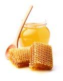 Fresh honey and honeycombs Royalty Free Stock Photo