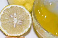 Fresh honey and juicy lemon Royalty Free Stock Image