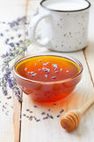 Fresh honey and lavender Stock Images