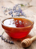 Fresh honey and lavender Stock Photo