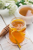Fresh honey and tea Royalty Free Stock Image