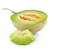 Fresh honeydew Melon on White. Background Royalty Free Stock Photos