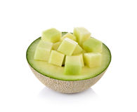 Fresh honeydew Melon on White Background. Fresh honeydew Melon on a  White Background Stock Images