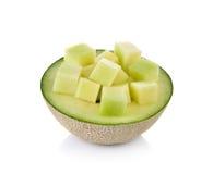 Fresh honeydew Melon on White Background Stock Images