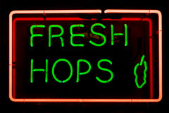 Fresh Hops Sign Royalty Free Stock Photography