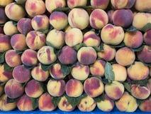 fresh, hormone-free season peach Royalty Free Stock Image
