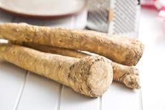 Fresh horseradish root Stock Photo