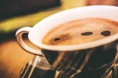 Fresh Hot Coffee Cup Stock Images