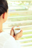 Fresh hot coffee for a loved Stock Photo