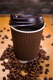 Fresh hot coffee Stock Images