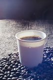 Fresh Hot Coffee Royalty Free Stock Photography