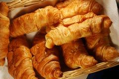 Fresh hot croissant stock photos