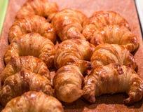 Fresh Hot Croissants Stock Images