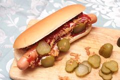 Fresh hot dog Stock Photos