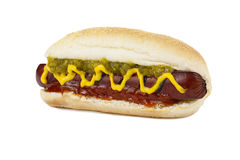 Fresh hot dog sandwich Royalty Free Stock Images