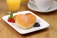 Fresh hot  pancakes Royalty Free Stock Images