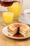 Fresh hot  pancakes Royalty Free Stock Photography