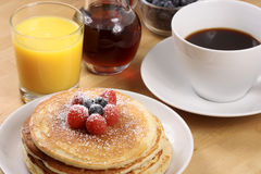 Fresh hot  pancakes Royalty Free Stock Images