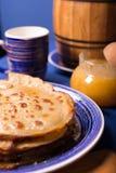 Fresh hot pancakes Stock Photos