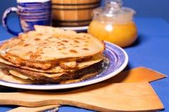 Fresh hot pancakes Royalty Free Stock Photo