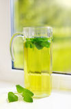 Fresh hot peppermint tea Stock Photos