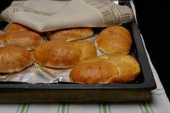 Fresh hot pies stock photo