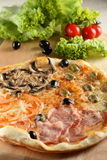 Fresh and hot pizza Stock Image