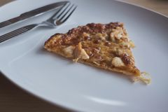 Fresh and hot Pizza slice for lunch.  royalty free stock image