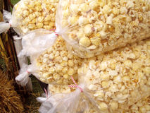 Fresh, hot pop corn Stock Images