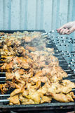 Fresh hot skewers Royalty Free Stock Photo