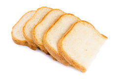 Fresh hot slices of home-made bread Stock Photos